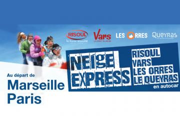 Neige Express 2018/2019 - Liaisons Bus Paris/Marseille pour les stations des Orres/Crevoux et Embrun