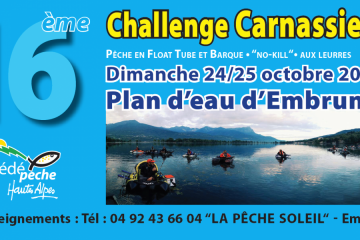 Challenge Carnassiers Embrun 2020 - Float Tube & Barque