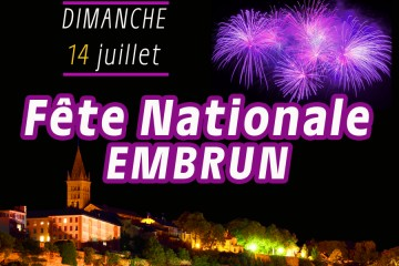 Fête Nationale 2019 / Feu d'artifice Embrun