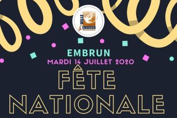 Fête Nationale 2020 Embrun