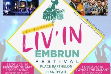 Festival Live in Embrun 2021 (samedis)