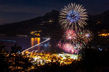 Fête Nationale 2019/ Feu d'artifice Savines-le-Lac