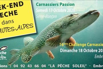 [Annulé] Week-end Pêche Carnassiers : Challenge Embrun 2020 + Journée Passion