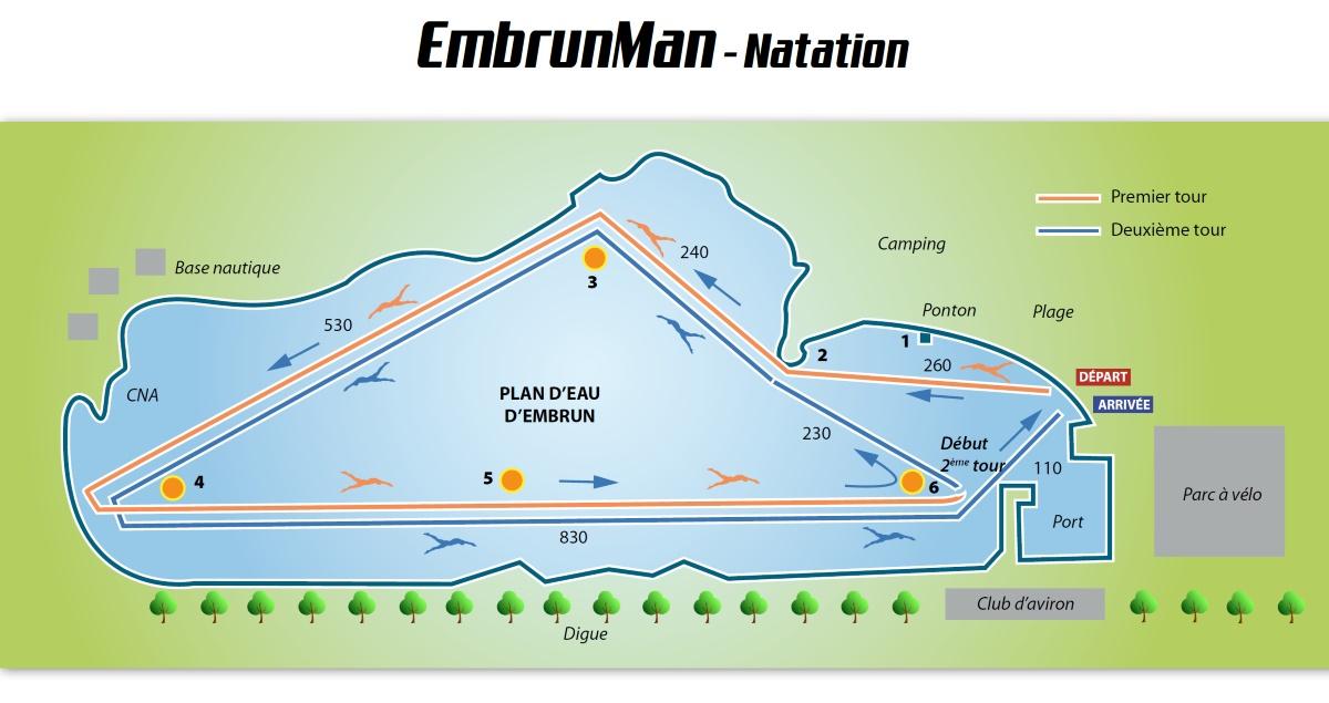 parcours natation embrunman 2017