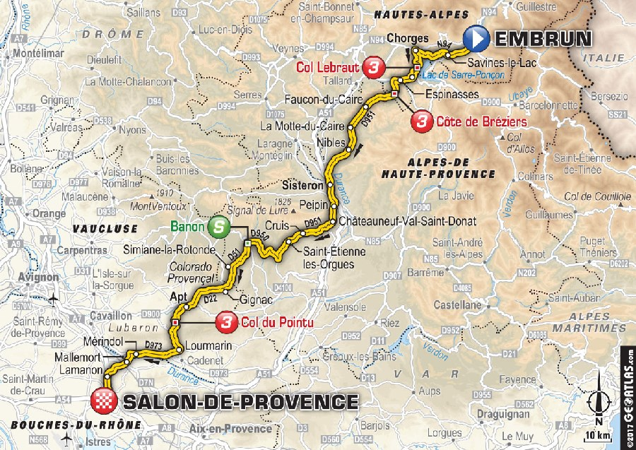 carte etape 19 embrun salon de provence